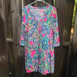 Lilly Pulitzer dress with sleeves size L